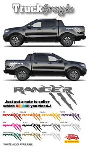 Pick up 4x4 VEHICLE GRAPHICS DECALS STICKERS x2 fits all pickups FORD VW L200 2