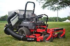 Trac Vac Lawn Vacuum Leaf Grass Bagger Dump From Seat Steel Chute 14 CF