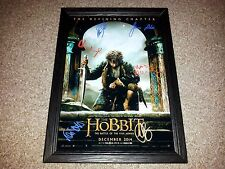 "THE HOBBIT 3 : BATTLE OF FIVE ARMIES PP SIGNED & FRAMED 12""X8"" A4 PHOTO POSTER"
