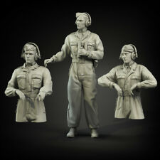 1/35 Scale resin model kit WW2 Waffen-SS cammo overalls  tank crew (3 figures)