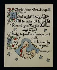 "Vintage 1948 ""Silent Night"" Christmas Card"