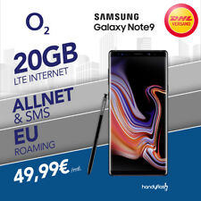 Samsung Galaxy Note 9 o2 Free Vertrag  inkl. 20GB LTE Internet nur 49,99€ mtl.