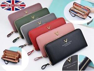 Ladies Women Clutch Wallet Zipper Wallet Wrist let Purse Clutch Bag Phone Wallet