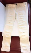 NEW MCQ ALEXANDER MCQUEEN SEXY WHITE DENIM PANTS JEANS SZ 27