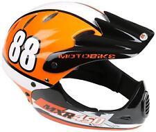 MOTOBIKE Mxr250 Full Face Kids Bike Bicycle MTB BMX Helmet - Orange 54-58cm
