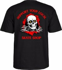 Powell Peralta RIPPER OG SUPPORT YOUR LOCAL SKATESHOP Shirt BLACK LARGE