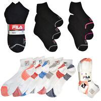 Fila Ladies 6 Pairs Moisture Control Athletic Low Cut Socks