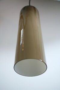 Rare Large Italian 1960s VENINI Glass Modernist Pendant Light Lamp Murano