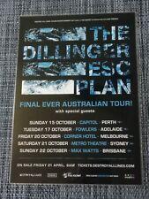 THE DILLINGER ESCAPE PLAN - 2017 AUSTRALIA TOUR - LAMINATED PROMO TOUR POSTER