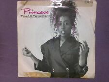 """Princess - Tell Me Tomorrow (7"""" single) picture sleeve SUPE 106"""
