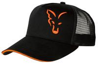 FOX NEW Black & Orange Trucker Cap - Carp Fishing Hat - CPR924