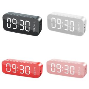 Bluetooth Speaker Column Portable Wireless MP3 Speakers Mirror Bass Alarm Clock