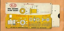 EX-CELL-O CORP DRILL BUSHING SLIDE CHART  VINTAGE  ADVERTISING