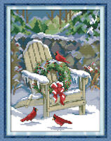 Joy Sunday Christmas Snow Counted Cross Stitch Kit 14CT 11CT Printed Embroidery