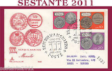SAN MARINO FDC CAPITOLIUM 91 FAIP F.A.I.P.  MONETE 1972 VIAGGIATA (241)