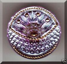 CZECH GLASS BUTTON - Basket Lavender Lilac Aqua Mirror