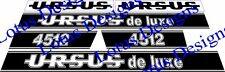 Ursus 4512 De Luxe tractor stickers / decals