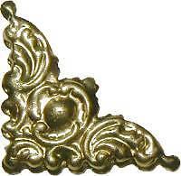 Stamped Brass Box or Frame Corner B4689
