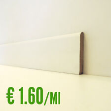 BATTISCOPA BIANCO MDF liscio 10 x 70 mm. asta 2,40 metri