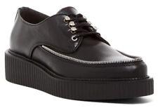 $240 Diesel Creep Deep Destiny Zip Creeper Boot Leather Oxford Shoes Black 7.5