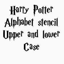 Harry Potter Hogwarts Font Alphabet Letters Stencil Small 0.5 Inch Inc Numbers