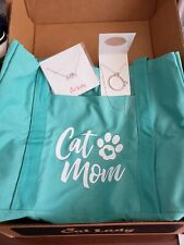 New! Cat Lady Box Exclusives Lot of 3-Cat Mom Tote/Cat Mom & Cat Necklaces