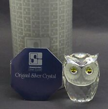 Swarovski Crystal Large Owl 010022- Excellent Condition - Box & Certificate