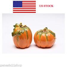 Orange Pumpkin Shape Design Salt and Pepper Shaker