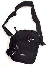 Messenger Travel Strap Shoulder Hand Bag Black Cross body Polyester 21x19cm (p2)