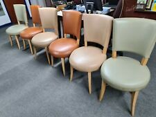 6 x Faux Leather Chairs for Restaurant or Home Commercial Grade, various Colours