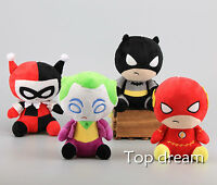 DC Comics Batman The Flash Joker Harley Quinn with Suction Soft Plush Toy Dolls