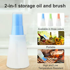 Silicone Kitchen Basting Brush Pastry Barbecue Oil BBQ Bread Grill Brush &Bottle