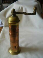 """Vintage Atlas Pepper Mill Import Grinder Brass Copper 8"""""""