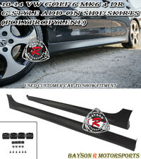 G-Style Add-On Side Skirts (PP) Fits 10-14 VW MK6 Golf 6 GTI