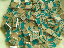 Broken China Mosaic Tiles - * TEAL & GOLD * Elegant mosaic tiles