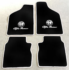 Autoteppich Fußmatten für Alfa Romeo 33  schwarz weiss Logo u. Schrift Neuware