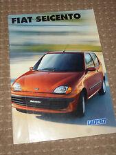 Fiat Seicento Car Brochure, (English) Sporting, Abarth etc., 1998