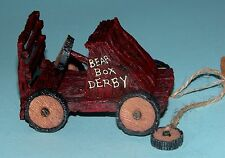 "Boyds Bears Tug Along 654250 ""Bearbox Derby"" soap box car, year round Nib"
