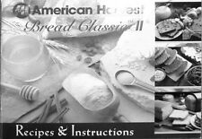 American Harvest Bread Classic II Bread Machine Instructions Manual & Recipes