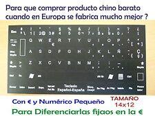 Imagen Digital Pegatinas teclado español 14x12 spanish keyboard sticker Portatil