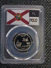 2004-S 25c Florida SILVER State Flag Label Quarter Proof Coin PCGS PR70 DCAM
