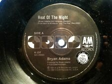 BRYAN ADAMS 45RPM HEAT OF THE NIGHT DJ PROMO COPY 1987 FREE POST IN AUSTRALIA