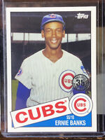 ERNIE BANKS 2020 Topps Update 1985 Topps 35th Anni -CHICAGO CUBS - #85TB-11