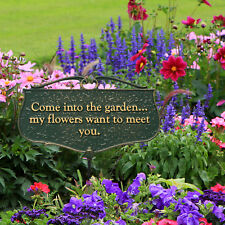 Come Into the Garden... Garden Poem Sign
