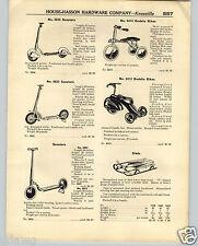 1936 PAPER AD Streamlined Fender Skirt Sidewalk Scooter Tricycle Skippy Racer ?