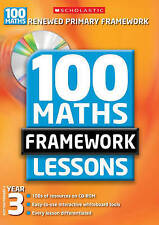 100 New Maths Framework Lessons for Year 3 by Ann Montague-Smith-F026