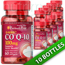 Puritan's Pride Coenzyme CoQ10 CO Q-10, CoQ-10,100 mg 10X60 Softgels USA Q-Sorb