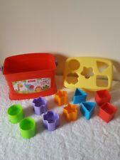 Fisher Price Babys First Blocks Shape Sorter Colourful Toys VGC 10 Blocks