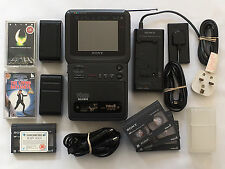 VINTAGE SONY GV-9E VIDEO WALKMAN VIDEO8 TV RECORDER TAPE PLAYER TUNER PAL 1980s
