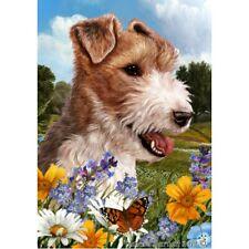 Summer House Flag - Wire Fox Terrier 18067